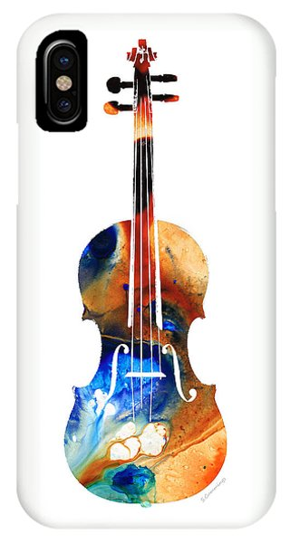 Violin iPhone X Case - Violin Art By Sharon Cummings by Sharon Cummings