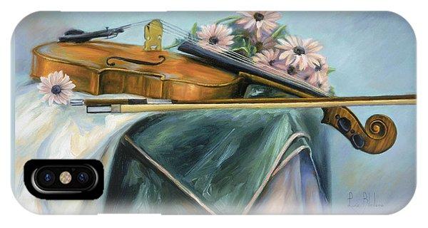 Violin iPhone X Case - Violin by Lucie Bilodeau