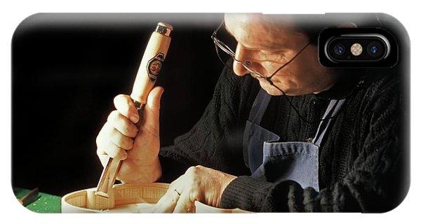 Woodworking iPhone Case - Violin-maker At Work by Patrick Landmann