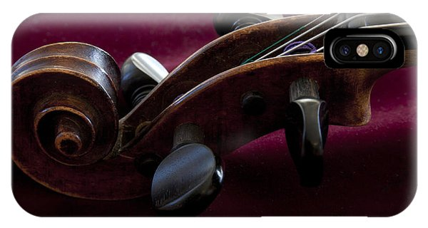 Violin On Deep Red IPhone Case