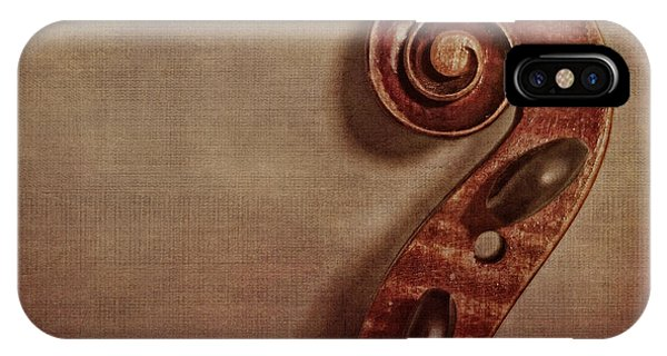 Violin iPhone X / XS Case - Violin Scroll by Emily Kay