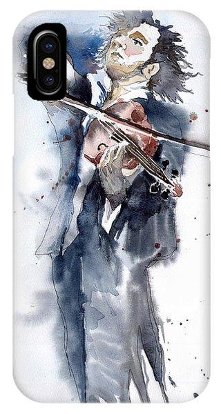Players iPhone Case - Violine Player 1 by Yuriy Shevchuk
