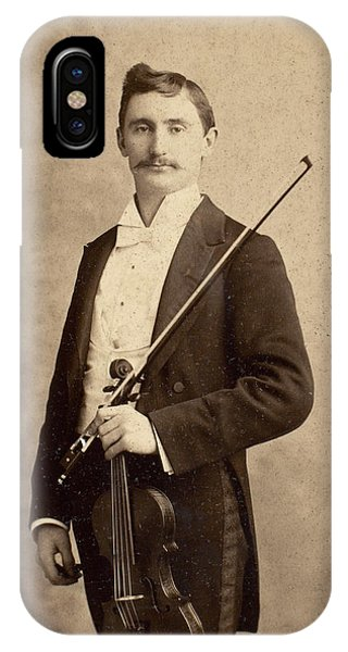 Violin iPhone X Case - Violinist, C1900 by Granger