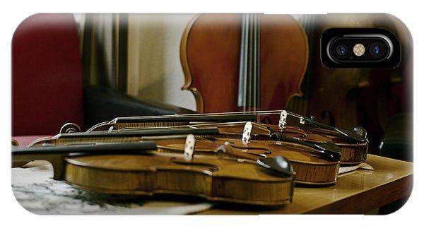 Music iPhone Case - Violins by Urte Berteskaite