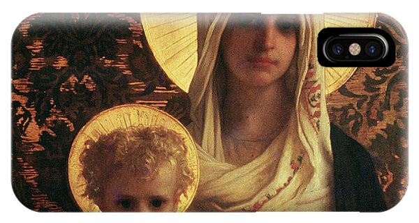 Mary Mother Of God iPhone Case - Virgin And Child by Antoine Auguste Ernest Herbert
