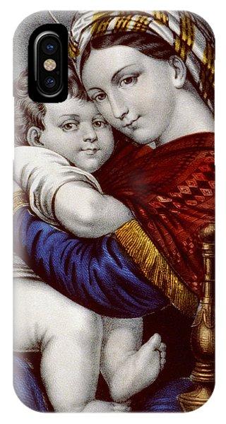 Virgin And Child Circa 1856  IPhone Case