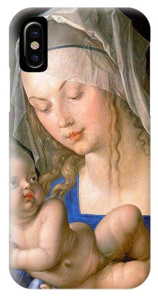 Albrecht Durer iPhone Case - Virgin And Child Holding A Half-eaten Pear, 1512 by Albrecht Durer or Duerer