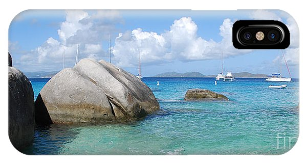 Virgin Islands The Baths With Boats IPhone Case