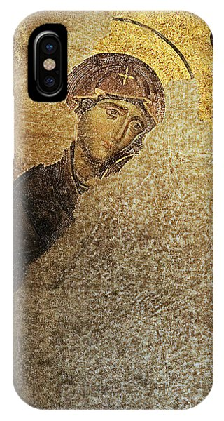 Virgin Mary-detail Of Deesis Mosaic  Hagia Sophia-day Of Judgement IPhone Case