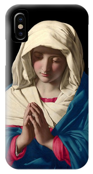 Virgin Mary In Prayer IPhone Case