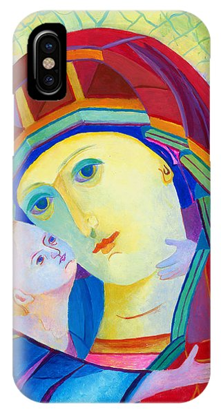 Vladimir Virgin Mary And Child, Mother Mary Madonna With Child. Polish Catholic Art  IPhone Case