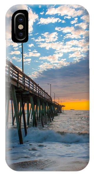 Virginia Beach Pier Into The Sun IPhone Case
