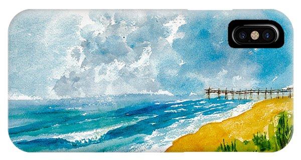 Virginia Beach With Pier IPhone Case