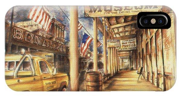 Virginia City Nevada - Western Art Painting IPhone Case