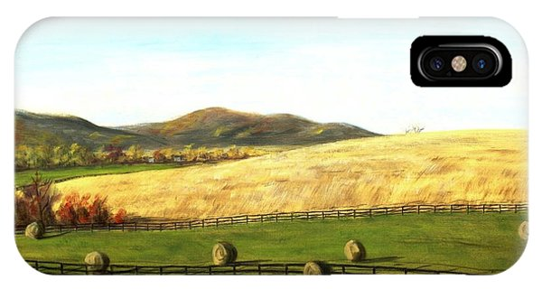 Virginia Countryside Autumn South Of Leesburg IPhone Case