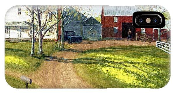 Virginia Farm Countryside Spring IPhone Case