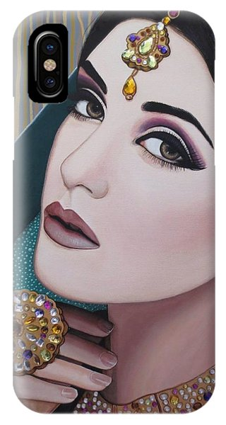 Viridian Indian Beauty IPhone Case