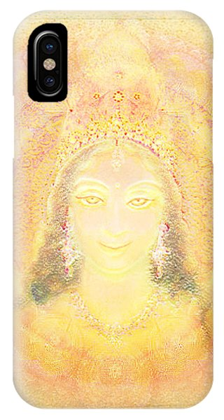 Vision Of A Goddess - A Being Of Light Phone Case by Ananda Vdovic