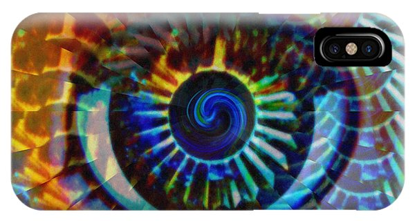Neon iPhone Case - Visionary by Gwyn Newcombe