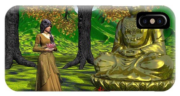 Visiting Buddha IPhone Case