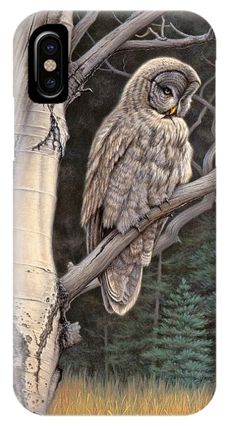 Yellowstone iPhone Case - Visitor From The North-great Grey Owl by Paul Krapf