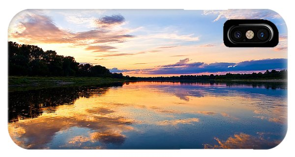 Vistula River Sunset IPhone Case