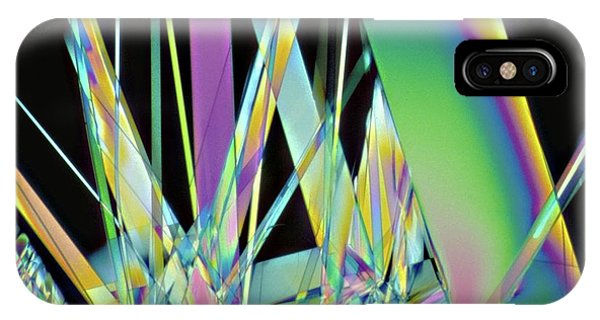 Synthesis iPhone Case - Vitamin B1 Crystals by Dennis Kunkel Microscopy/science Photo Library