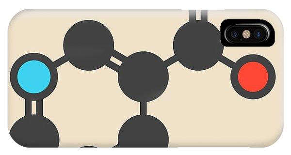 Vitamin B3 Molecule IPhone Case