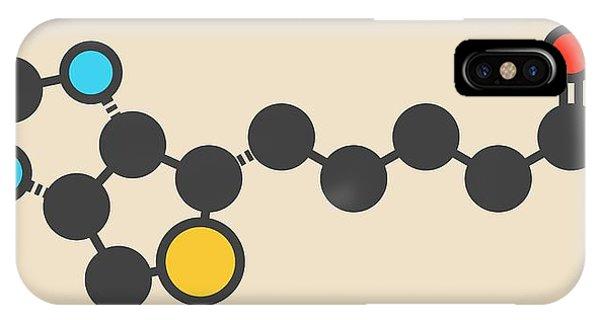 Vitamin B7 Molecule IPhone Case