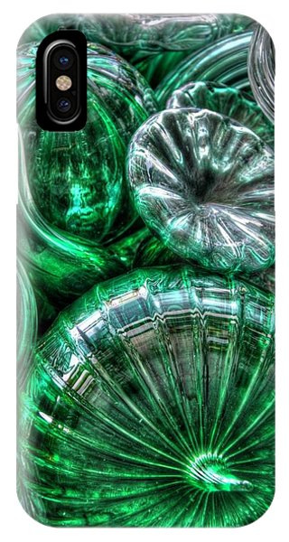 Vitreous Verdant Abstract IPhone Case