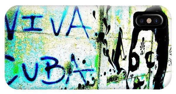 Viva Cuba Street Art IPhone Case