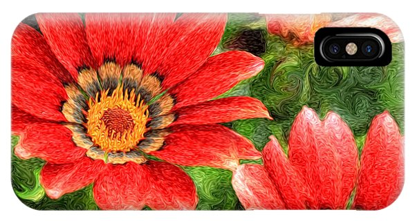 Vivid Orange African Daisy Digital Oil Painting IPhone Case