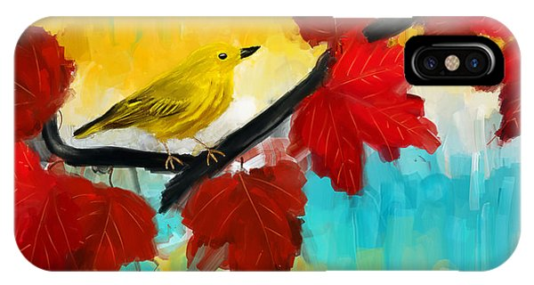 Warbler iPhone Case - Vividness by Lourry Legarde
