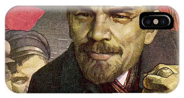 Free Will iPhone Case - Vladimir Ilich Ulyanov Lenin Depicted by Mary Evans Picture Library