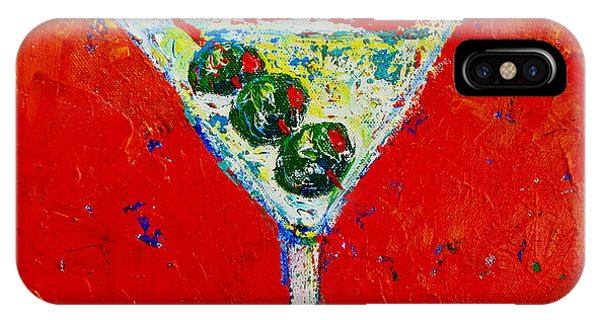 Vodka Martini Shaken Not Stirred - Martini Lovers - Modern Art IPhone Case
