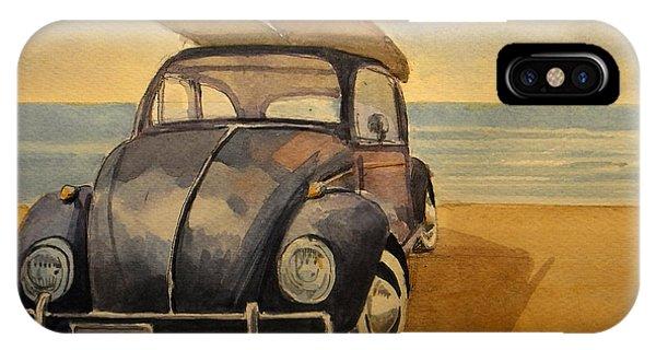 Beetle iPhone Case - Volkswagen Beetle by Juan  Bosco