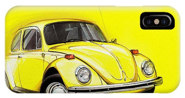 Volkswagen Beetle Vw Yellow IPhone Case
