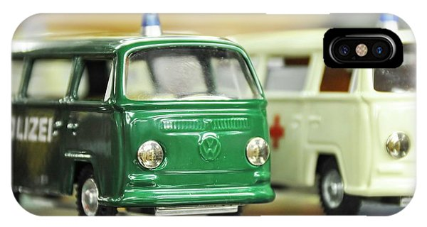 Toy Shop iPhone Case - Volkswagen Miniature Cars by Photostock-israel