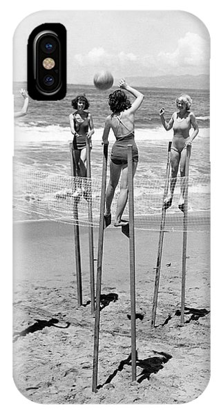 Volleyball On Stilts IPhone Case