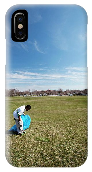 Altruism iPhone Case - Volunteers Clearing Park Litter by Jim West