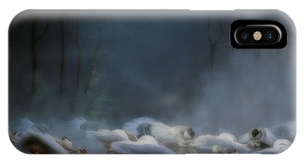 Swan iPhone X Case - Von Rothbart's Curse by Peet Van Den