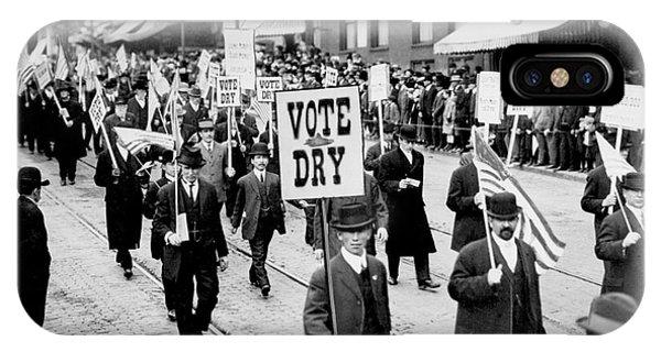 Again iPhone Case - Vote Dry by Jon Neidert