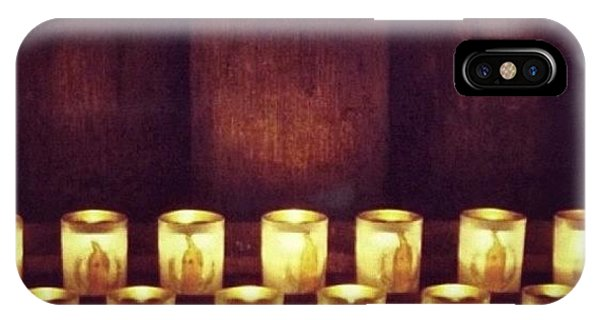 Religious iPhone Case - Votive Candles - Notre Dame Cathedral by Anna Porter
