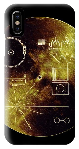 iPhone Case - Voyager Spacecraft Plaque by Nasa/science Photo Library