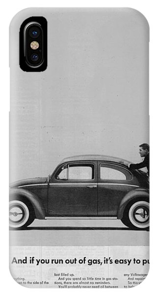 Vw Beetle Advert 1962 - And If You Run Out Of Gas It's Easy To Push IPhone Case