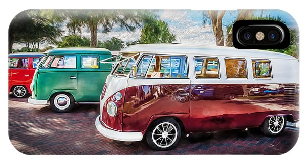 Vw Bus Stop 1964 1961 1968 Vans Trucks Painted IPhone Case