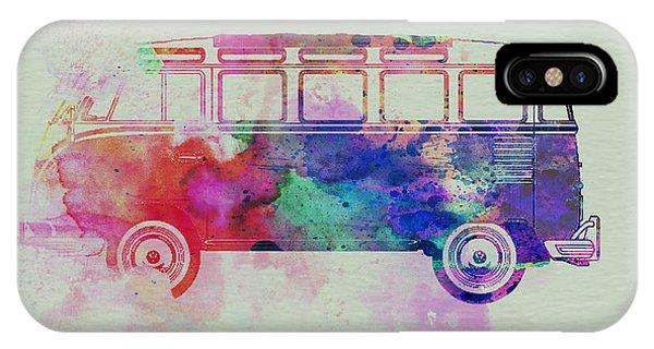 Vw iPhone Case - Vw Bus Watercolor by Naxart Studio