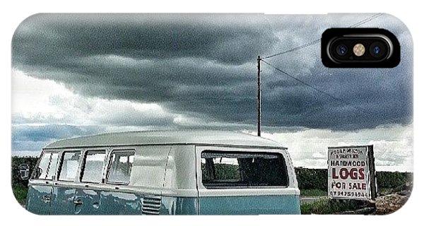 Vw Bus iPhone Case - #vw #camper #bus #splitty #splitscreen by Dave Williams
