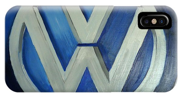 Vw Logo Blue IPhone Case