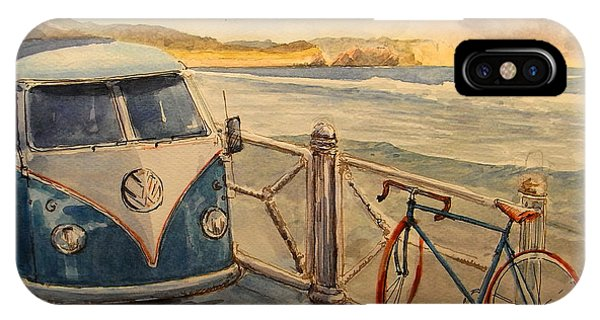 Bike iPhone Case - Vw Westfalia Surfer by Juan  Bosco